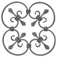 Buy cheap Wrought Iron Elements/ Ornaments/parts  for balusters and gates decorative -- Cast iron grapes leaves from wholesalers