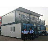 Buy cheap Color - Coated Prefab Container House With Glass Doors / Decorative Fence from wholesalers