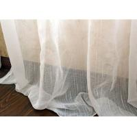 Buy cheap Upholstery White Sheer Curtain Fabric / Extra Wide Polyester Voile Fabric from wholesalers
