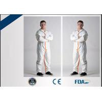 Buy cheap Long Sleeve Disposable Full Body Protection SuitAnti Wrinkle OEM Acceptable from wholesalers