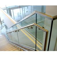 Buy cheap Aluminum u base channel glass railing with stainless steel top handrail product