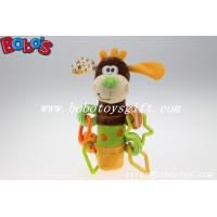 Buy cheap Colorful Plush Funny Dog Infant Toy Baby Stick Educational Toys With Plactic Accessory from wholesalers