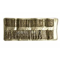 Buy cheap Large Capacity Leopard Pattern  Makeup Brush Roll Bag Pen Holder Case Handy Clutch from wholesalers