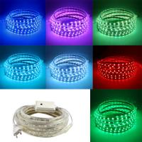 China AC220V 5M LED Strip SMD5050 White/Warm White Flexible LED Light waterproof LED ribbon for Garden Kitchen Night Bar DIY L on sale