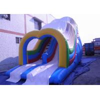 Buy cheap commercial outdoor Wave Inflatable Slip n Slide With Roof  / Large Bounce House from Wholesalers
