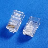 Buy cheap CAT5e Modular Plugs with 8P8C/RJ45 Connectors and FU/03 to 50U Thickness, for Stranded/Solid Cable from wholesalers