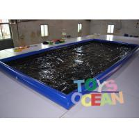 Buy cheap Air Sealed Type Inflatable Car Wash Mat Water Collector Boarding With Drain from wholesalers