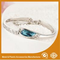 Buy cheap Fashion Thin Metal Bangles Bracelets With A Blue Stone 18K Gold Jewelry from wholesalers