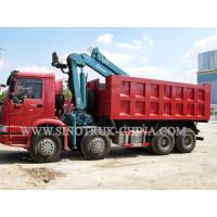 Buy cheap HOWO 12 Wheeler Dump Truck Mounted Hydraulic Crane Height 14.5m For Industry from wholesalers