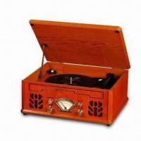 Buy cheap Nostalgic Wooden Music Center with 1.5 + 1.5W Maximum Audio Output Power and FM Pig-tail Antenna from wholesalers