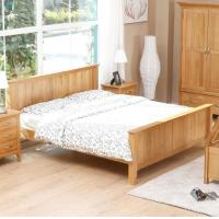 Buy cheap Natural Solid Wood Bedroom Furniture Sets Wooden Frame Simple Style Customized Size from wholesalers
