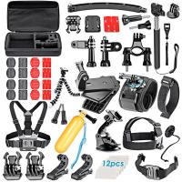 Buy cheap 60 in 1 Accessories Combo Kit for Gopro Hero 4/3+/3/2/1 Session Black Silver, for Gopro Camera Accessories Kit from wholesalers
