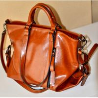 Buy cheap Woman PU Red Leather Handbags , PU Totes Shoulder Ladies Shopping Bags For 14 Inch Laptop from wholesalers