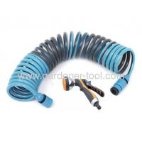 Buy cheap Garden PU Retract Water Hose With Advance 7-Pattern Garden Water Nozzle from wholesalers