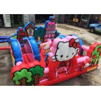 Buy cheap Hello Kitty Inflatable Bouncy Castle With Slide Commercial Adult Bouncy Castle from wholesalers
