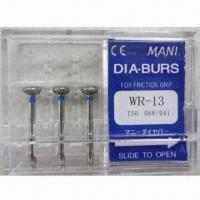 Buy cheap Dental Diamond Burs, Suitable for High Speed Hand-piece, Different Sizes are Available from wholesalers