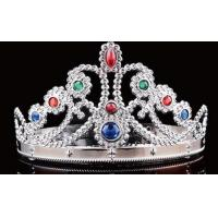 Buy cheap Party Crown King Queen Princess royal diamond crown children adults crown headwear halloween christmas performance from wholesalers