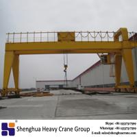 Buy cheap China rail mounted double girder gantry crane 20 ton 30 ton 50 ton price with ISO certificate from wholesalers