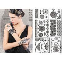 Buy cheap Sexy Body Black And White Tattoo Stickers , Long Lasting Fake Tattoos Stickers from wholesalers