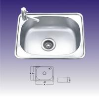 Buy cheap 1 Bowl Polished Stainless Steel Kitchen Sink With Faucet 550 X 400mm from wholesalers