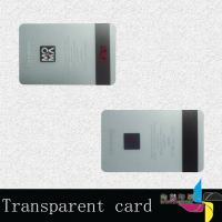 China Promotional Laminated Transparent PVC Card , Magnetic Stripe Card 0.76mm on sale