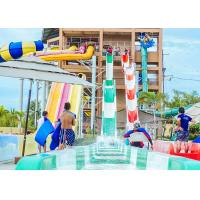 Buy cheap High Speed Water Slides Funny Swimming Pool Water Amusement For Holiday Resort Visitors product