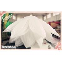6m*3m Oxford White Inflatable Flower for Event Decoration with Multiple Petals