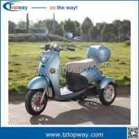 Buy cheap E-Trike for 2 adults/electric tricycle for handicappe/Motorized Shopping Tricycle from wholesalers