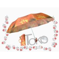 Buy cheap Heat Transfer Easy Auto Open Umbrella Compact Black Easy Storage In Purses product