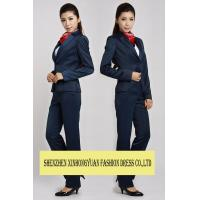 Buy cheap Ladies Corporate Office Uniforms Womens Dress Suits With Shirt / Vest from wholesalers