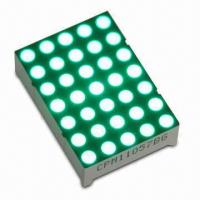 Buy cheap 5 x 7 Dot-matrix LED Display with Pure Green 280mcd Intensity from wholesalers