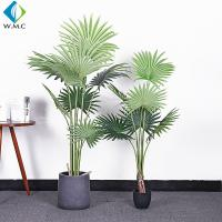 Buy cheap Fan Shaped Leaves Artificial Bonsai Tree , Artificial Palm Trees For Shop Window Display from wholesalers