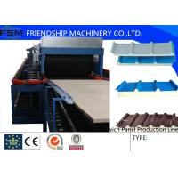 Buy cheap 5 Ribs Covered 1000mm PU Sandwich Panel Production Line With Double-Belt Conveyor from wholesalers