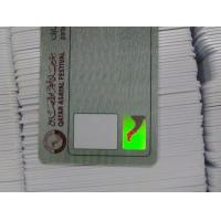 Buy cheap Contactless Smart Card OEM Hologram Sticker Security ID Card with CMYK printing product