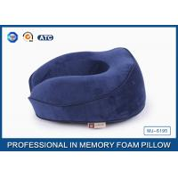 Buy cheap Ergonomic Sleep Design Memory Foam Travel Neck Pillow With Plush Cover , Adjustable from wholesalers