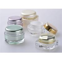 Buy cheap Square Bottle Cap Cosmetic Jars With Lids / Plastic Lotion Jars from wholesalers