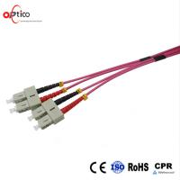 Buy cheap 40 100Gb 50 / 125 OM4 Multimode Fiber Patch Cable , Duplex 2.0mm 3.0mm Patch Cord Cable from wholesalers