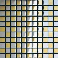 Buy cheap 12x12 Mirror Gold and Silver Glass Mosaict Wall Tiles from wholesalers