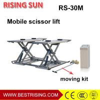 Buy cheap 3Ton pneumatic used middle rise mobile car lift for auto garage from wholesalers