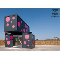 Buy cheap Pink And Black Prefabricated Container House Temporary Dormitory With Internal Stairs from wholesalers