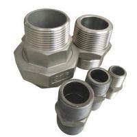 Buy cheap Stainless Steel Hydraulic Forged Equal Hex Male Thread Double Nipple Pipe Fitting from wholesalers