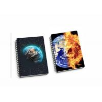 Buy cheap 45 Sheets 3D Flip Notebook Lenticular Flip With A4 / A5 / A6 size Plastic Hard Cover from wholesalers