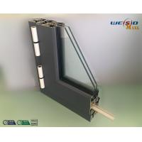 Buy cheap Gray Color Double Layers Glass Aluminium Window Profiles / Combined Windows from wholesalers