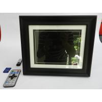 Black 8 Inch High Resolution Digital Picture Frame With Wooden Frame 350cd/m2
