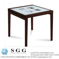 Buy cheap CE & SGS certificated quality white silk screen glass top from wholesalers