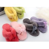 Buy cheap Winter Australia Sheepskin Flip Flop Slippers Rubber Sole With Gentle Smooth Feeling from wholesalers