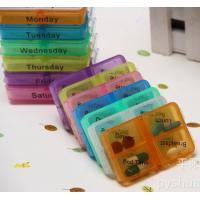 Buy cheap Medicine Weekly Storage Pill 7 Day Tablet Sorter Box from wholesalers