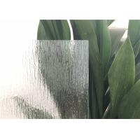 Rain Patterned Glass For Doors Window , Artistic Opaque Patterned Glass Rough grind  finish edge