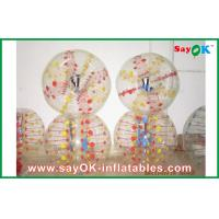 Buy cheap Colorful TPU Bubble Ball 0.6mm  1.5m DIA Inflatable Body Bumper Ball For Fun from wholesalers