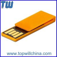 Plastic Paper Clip Pen Drive Price 4GB Storage to Fit for Your Daily Use